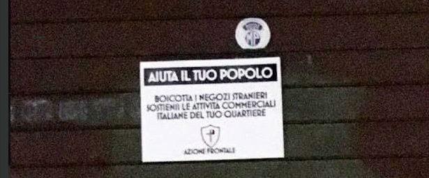 "NNS No ai negozi ""stranieri"": NeoNazismo alla carbonara?"