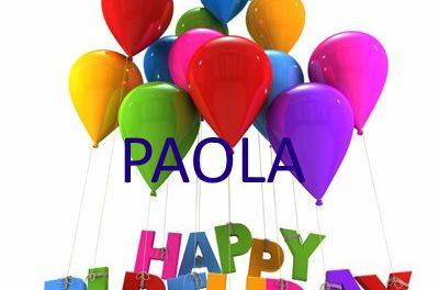 Buon Compleanno Paola